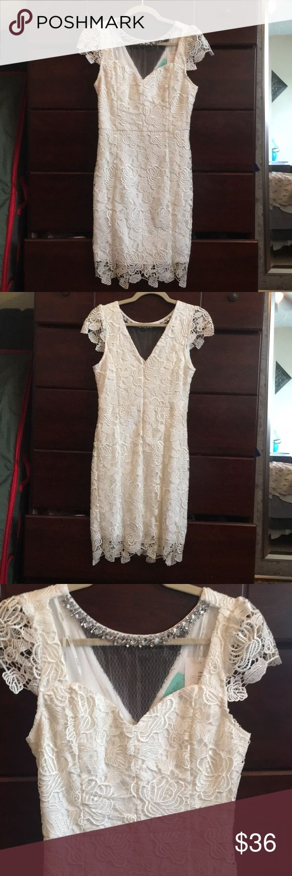 I just added this listing on Poshmark: Filly Flair NWT White Floral Lace Dress. #shopmycloset #poshmark #fashion #shopping #style #forsale #Filly Flair #Dresses & Skirts