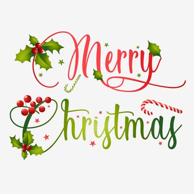 Merry Christmas Typography With Creative Christmas Elements Merry