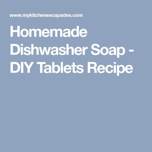 Homemade Dishwasher Soap - DIY Tablets Recipe