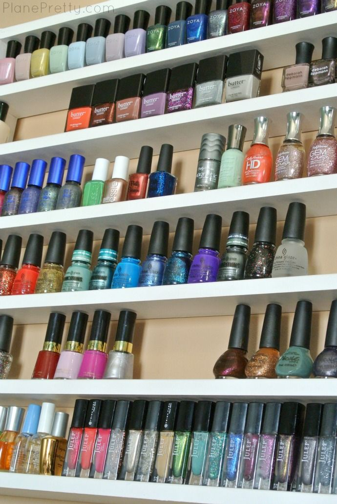 17 best ideas about nail polish shelves on pinterest nail polish storage organize nail polish. Black Bedroom Furniture Sets. Home Design Ideas