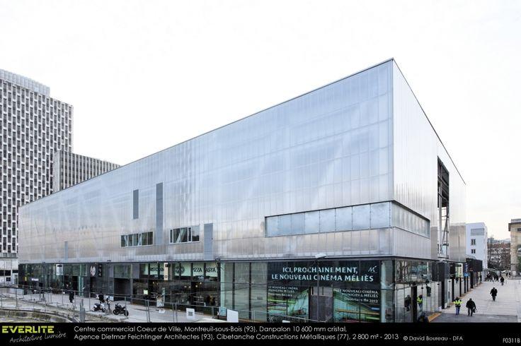 Facade Danpalon Centre commercial Coeur de ville, Montreuil