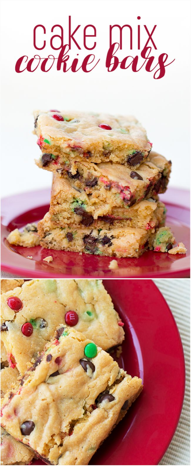 Cake Mix Cookie Bars Recipe - I've scoured Pinterest for the best cake mix cookie bars recipe and this is THE ONE folks, be sure to repin it and try it to see what I mean! Perfect for Christmas parties!