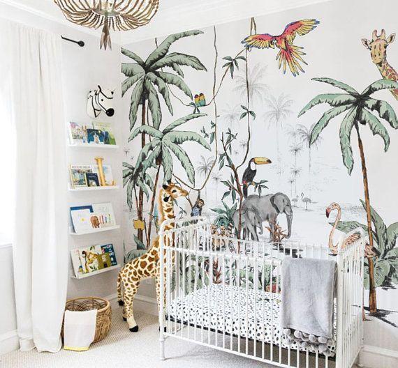 Behang Jungle Tonale Kleuren Uniek