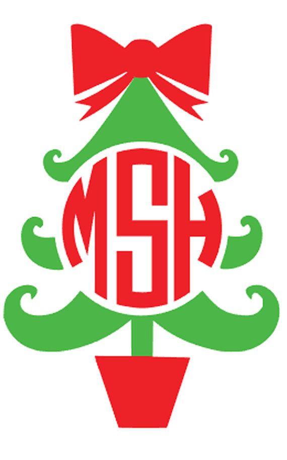 DIY Monogram Christmas Tree Iron On Personalized by VinylDezignz