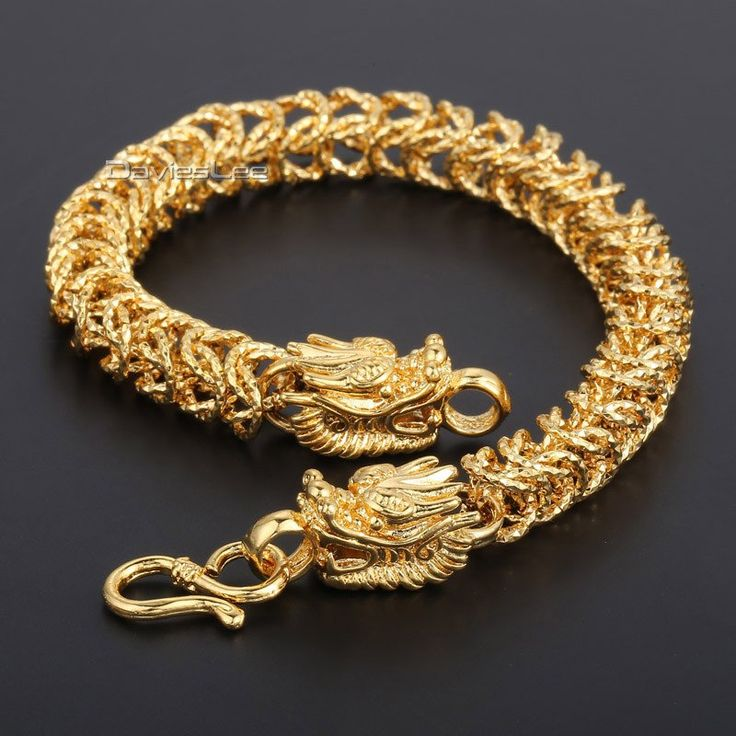 Our Fierce Gold Dragon Head Bracelet Is Something To Be Reckoned With