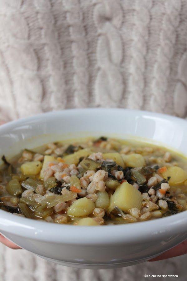 La cucina spontanea: Zuppa di cicoria catalogna e farro