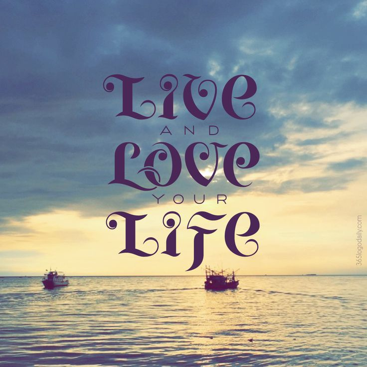 Live and Love your Life hand lettering composition. Fonts are inspired by Thai calligraphic writings on fishing boats.