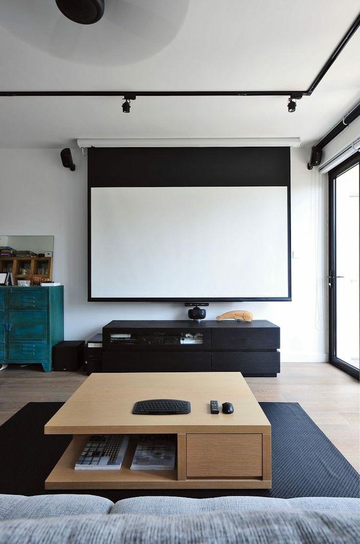 Beamer im Wohnzimmer integrieren – Ideen für ein einzigartiges ...