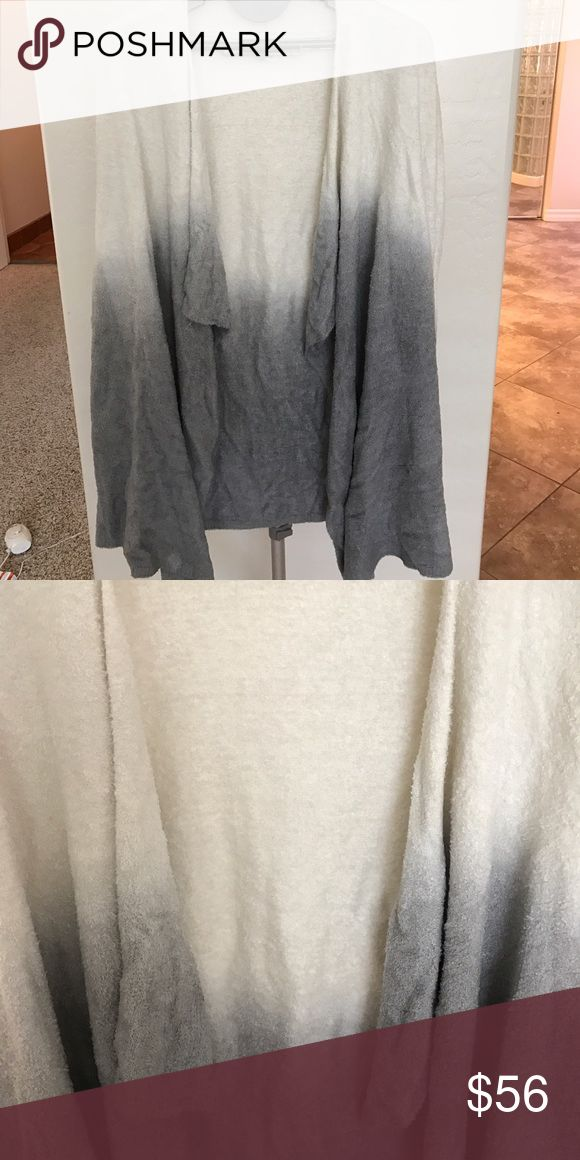 Barefoot dreams cardigan Soft fluffy lounge cardigan/robe ombré Barefoot Dreams Intimates & Sleepwear Robes