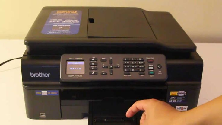 Brother MFC-J475DW All-In-One Printer Scanner Copier Fax  - good video
