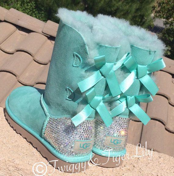 Swarovski Crystallized Bailey Bow Surf Spray Ugg Boots by TwiggyAndTigerLily