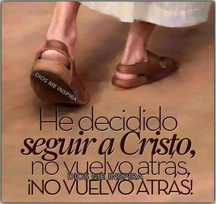 He decidido seguir a Cristo, no vuelvo atrás, ¡no vuelvo atrás!