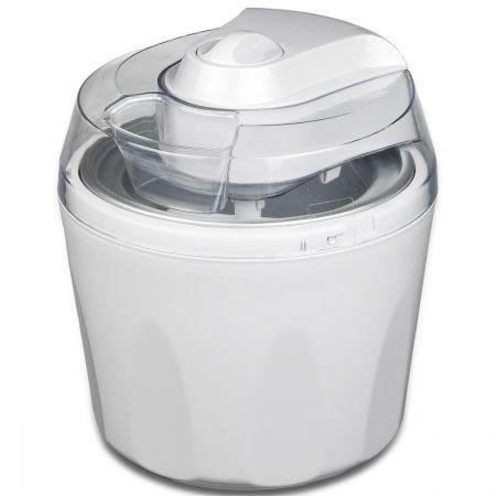 $39.98,Save $24.97 - White - Portable, 1.45L, Aluminum Bowl, Ice Cream, Frozen Yogurt, Gelato, Sorbet, ice cream Maker, Frozen Yogurt maker, Gelato maker, Sorbet maker, home appliances, small home electric, Electronic ice cream maker