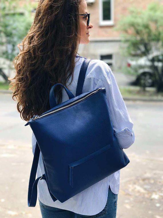LEATHER BACKPACK laptop backpack women backpack backpack