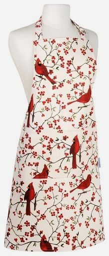 Cardinal Apron...for when you canned apricot pineapple jam, Mama