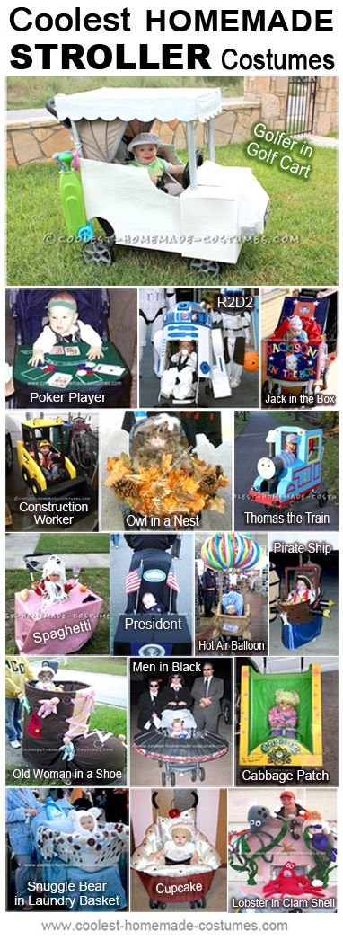 Coolest Stroller Halloween Costumes for Infants - Homemade Costume Contest