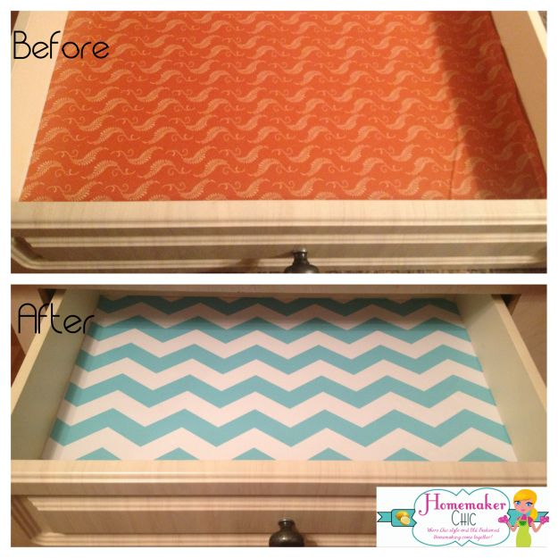 Decorating With Contact Paper Kitchen Drawer Makeover Home In 2018 Pinterest Drawers And