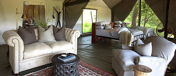 Award-winning Machaba Camp sits right on the Khwai River, overlooking Moremi Reserve
