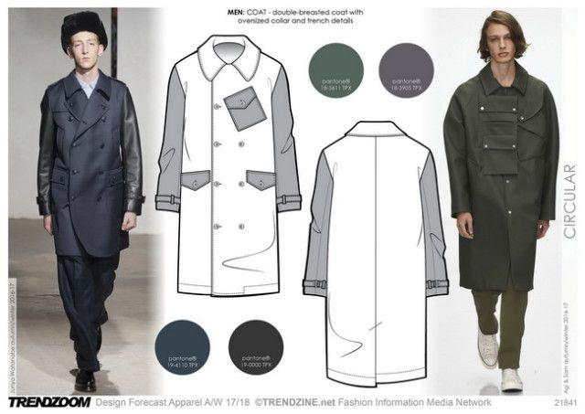 #Trendzine A/W 17-18 trends on #WeConnectFashion - Men's Contemporary inspiration: Circular.