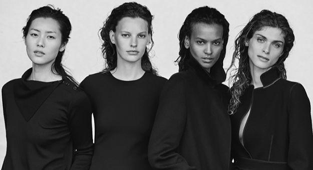 Модели Лиу Вен, Лия Кебеде, Элиза Седнауи и Аманда Мерфи в объективе Питера…