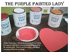 Coral Color Recipe using Chalk Paint® = Mix equal amounts of Pure White  Emperor's Silk and ¼ amount of Scandinavian Pink for a pretty pink. Then to achieve coral…. add an equal amount of Barcelona Orange.