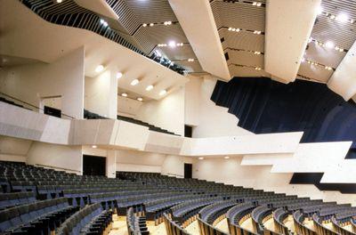 main concert hall, Finlandia Hall, Alvar Aalto, Helsinki, Finland, 1962