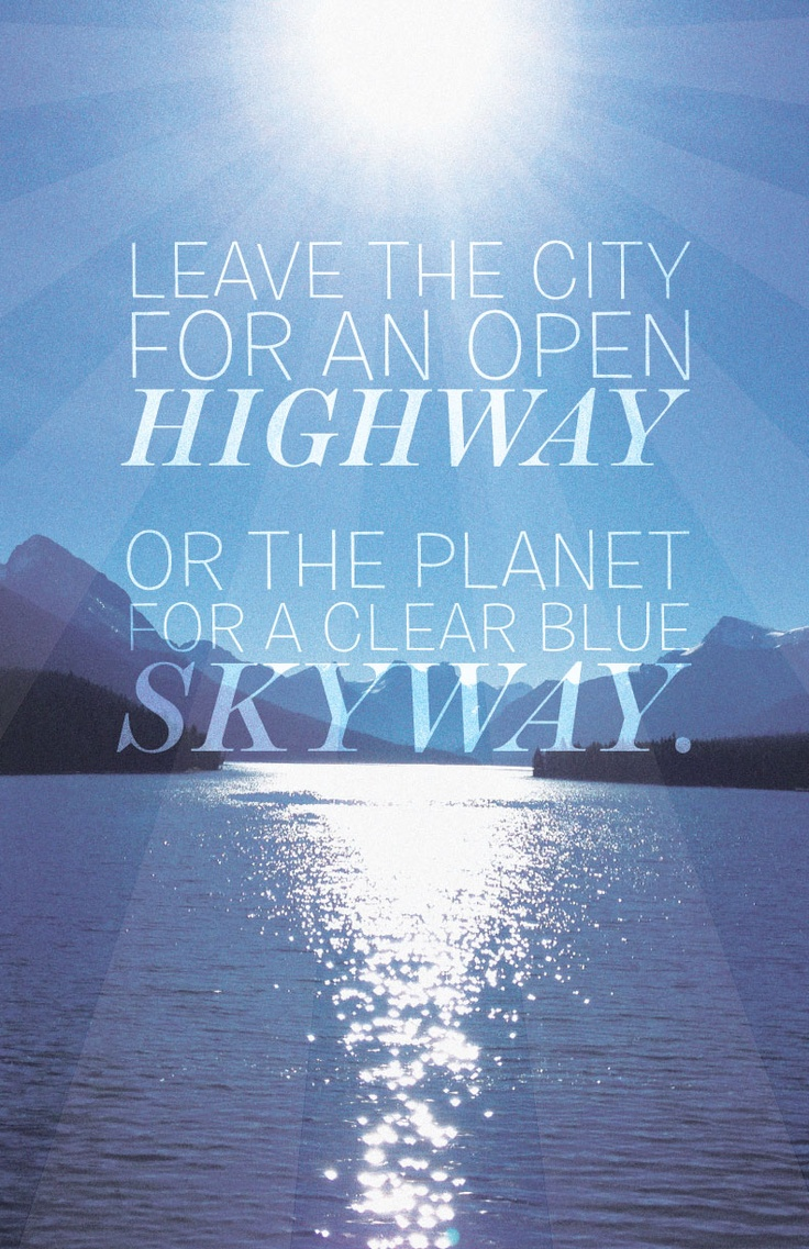 Clear blue skyway — Original photography and Print designed by Alix Mitchell GD
