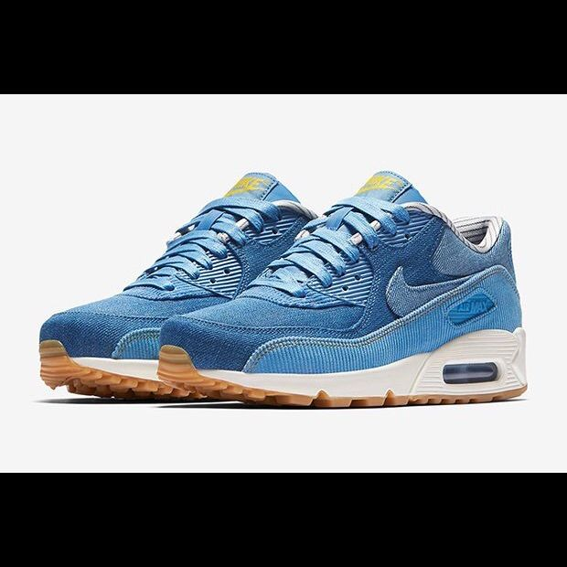0bcdcad411 Nike Shoes | Nike Air Max 90 Denimcorduroy | Color: Blue | Size: 7.5 ...