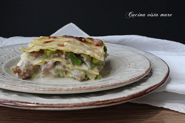 Lasagne+salsiccia+e+asparagi