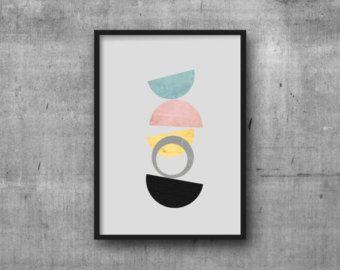 Midcentury Bild modernes Poster Geometrie Kunst Retro Kunstdruck Abstrakte Kunst Minimalistisches Poster Skandinavisches Interior Design Geometrisch  *Verfügbare Größen* A4 210 x 297 mm (8.3 x 11.7) A3 297 x 420 mm (11.7 x 16.5) 5 x 7 8 x 10 11 x 14  Die Drucke werden auf 240g Epson Archival Matte Fotopapier mit qualitativ hochwertigen und archivsicheren Tinten gedruckt.  Die Bilderrahmen und Dekoelemente gehören nicht zu dem Angebot.  Bitte beachtet, dass die Farben je nach…