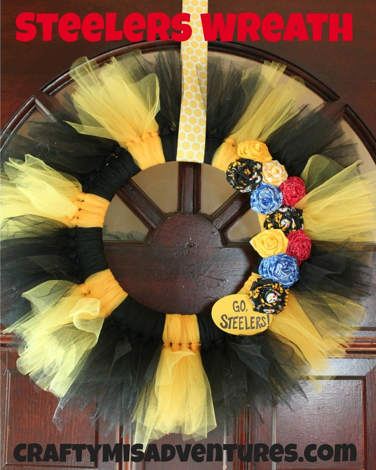 Crafty Home Improvement (Mis)Adventures: Steelers wreath