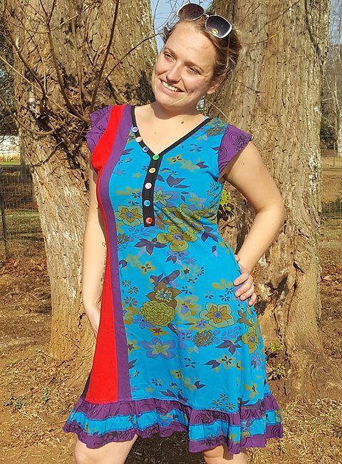 Light & comfy cotton dress made in Kathmandu, Nepal #hippieclothes #retail #dresses