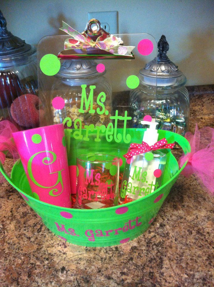 Image detail for -Personalized Teacher Gift – {Recycled Crystal Light Container}