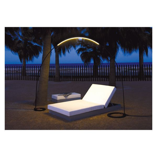 Vibia Halley Outdoor Light  Drawing inspiration from its comet namesake, the Halley Outdoor Light streaks across the sky with its minimal design. Super-flexible, durable and lightweight, this LED lamp is available in three models for optimal usability.  www.vibia.com