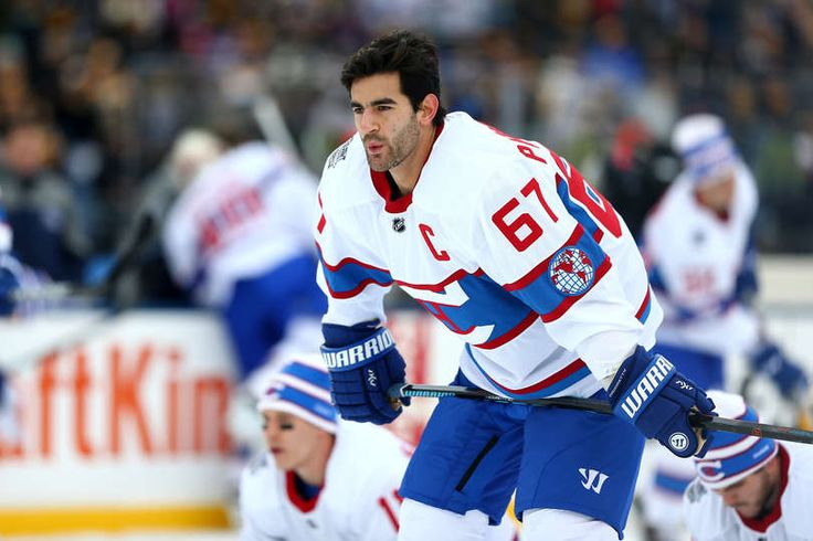 1.1.16 - 2016 Bridgestone NHL Winter Classic - Montreal Canadiens vs. Boston Bruins FOXBORO, MA - JANUARY 01: Max Pacioretty #67 of the Montreal Canadiens warms up prior to the 2016 Bridgestone NHL Winter Classic against the Boston Bruins at Gillette Stadium in Foxboro, Massachusetts. (Photo by Maddie Meyer/Getty Images)
