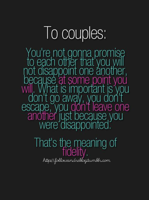 to couples...