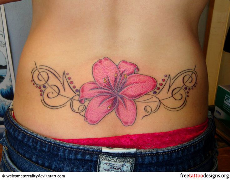 Latest Gold Necklace: 20  Fair Flower Tattoos On Lower Back