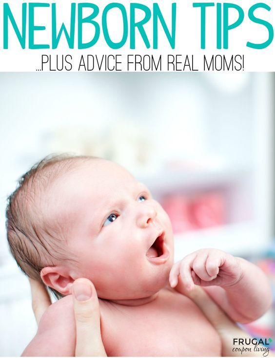 Tips for a Newborn also known as the fourth trimester plus tips for moms of newborns from REAL moms on Frugal Coupon Living.