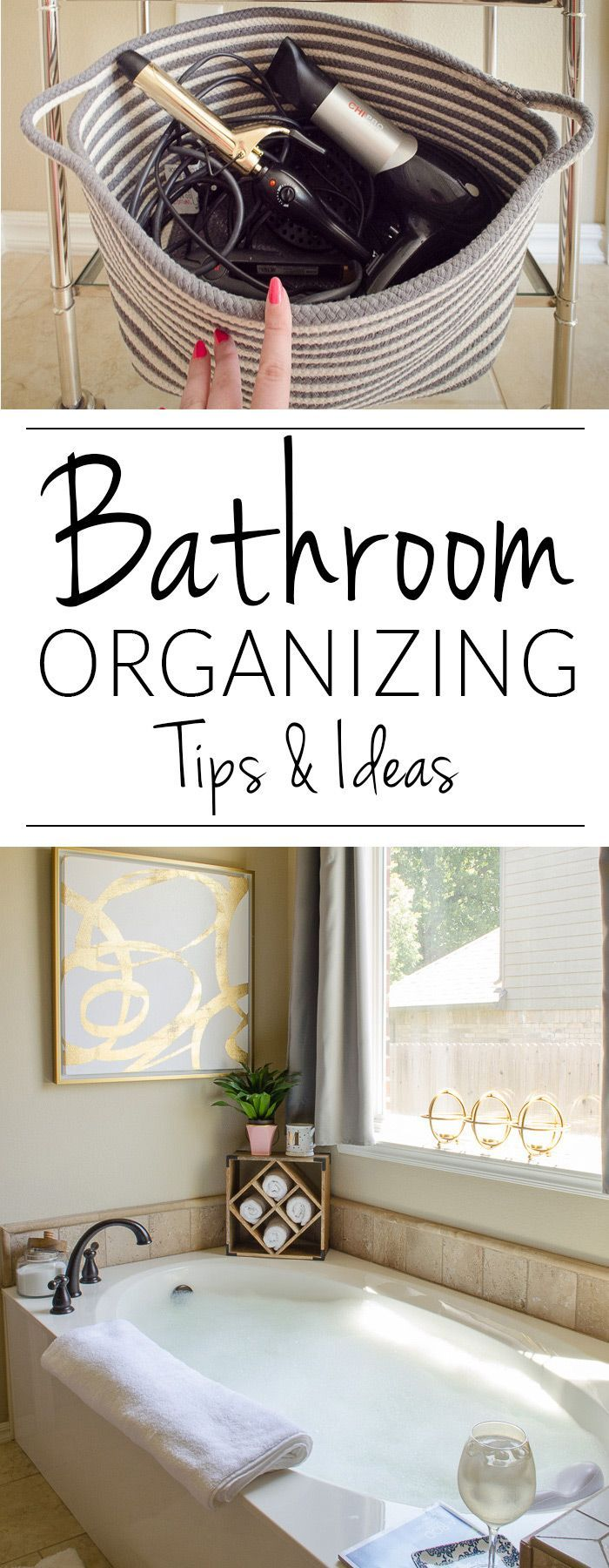 Organize and decorate your master bathroom at the same time with these clever tips for organizing your bathroom in style.