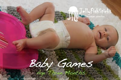 Seven Games to Play with Your Three Month Old Sunshine! #babygames #babyfun #infantsensorylearning