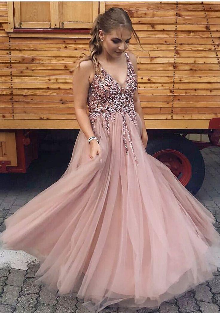 Kleider Rosa Luxuriöse Lange Homecoming Abendkleider Ballkleider dxCBWero