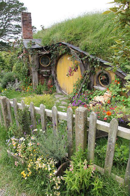 Looks Like A Little Fairy Home, Cute. New ZealandBeautiful HomesBeautiful  PlacesWonderful PlacesHobbit GardenGnome ...