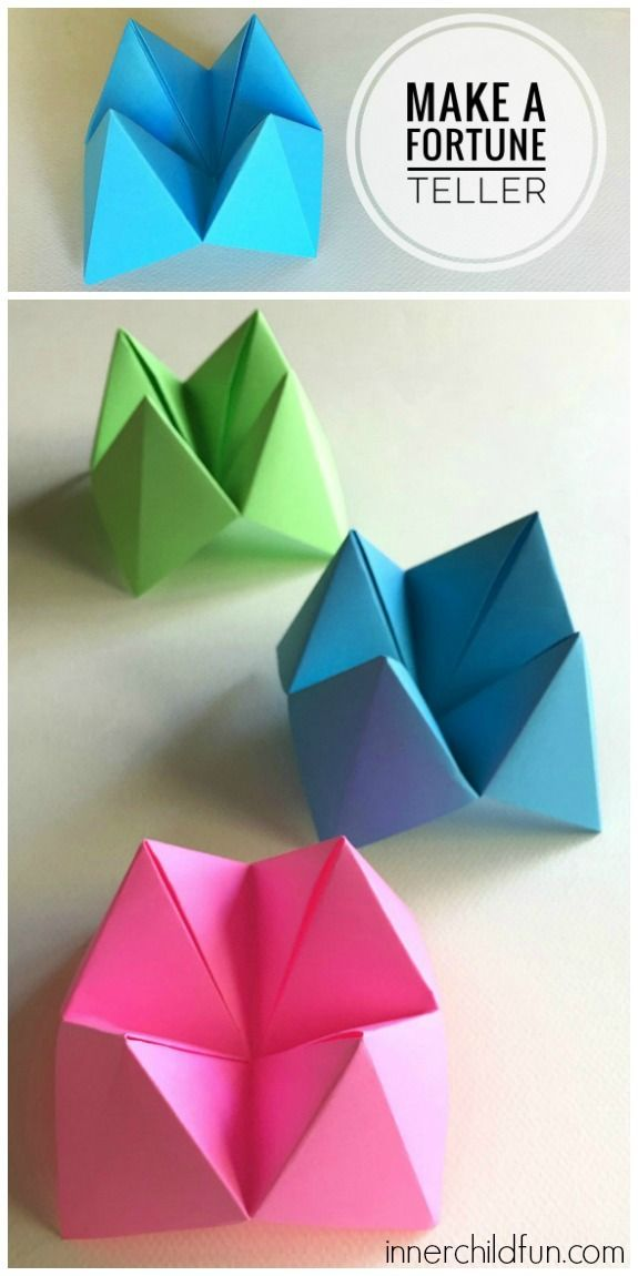 How to Make Paper Fortune Tellers step by step video tutorial
