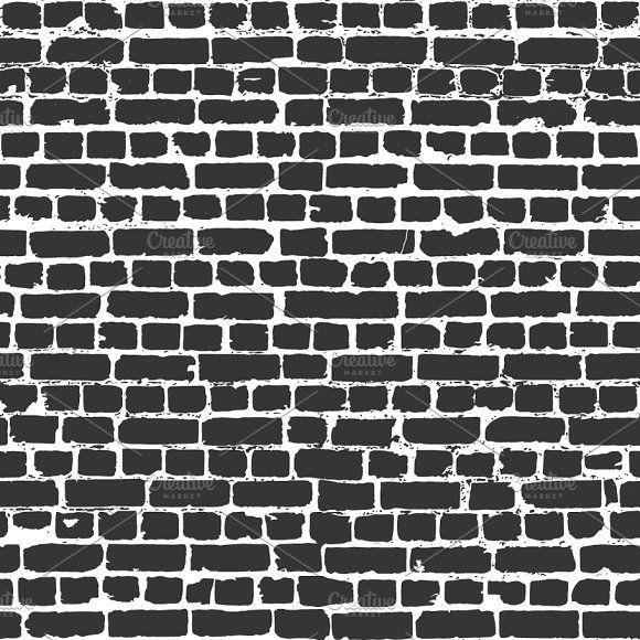 Gray Bricks In Worn Out Brick Wall Grey Brick Brick Wall Brick