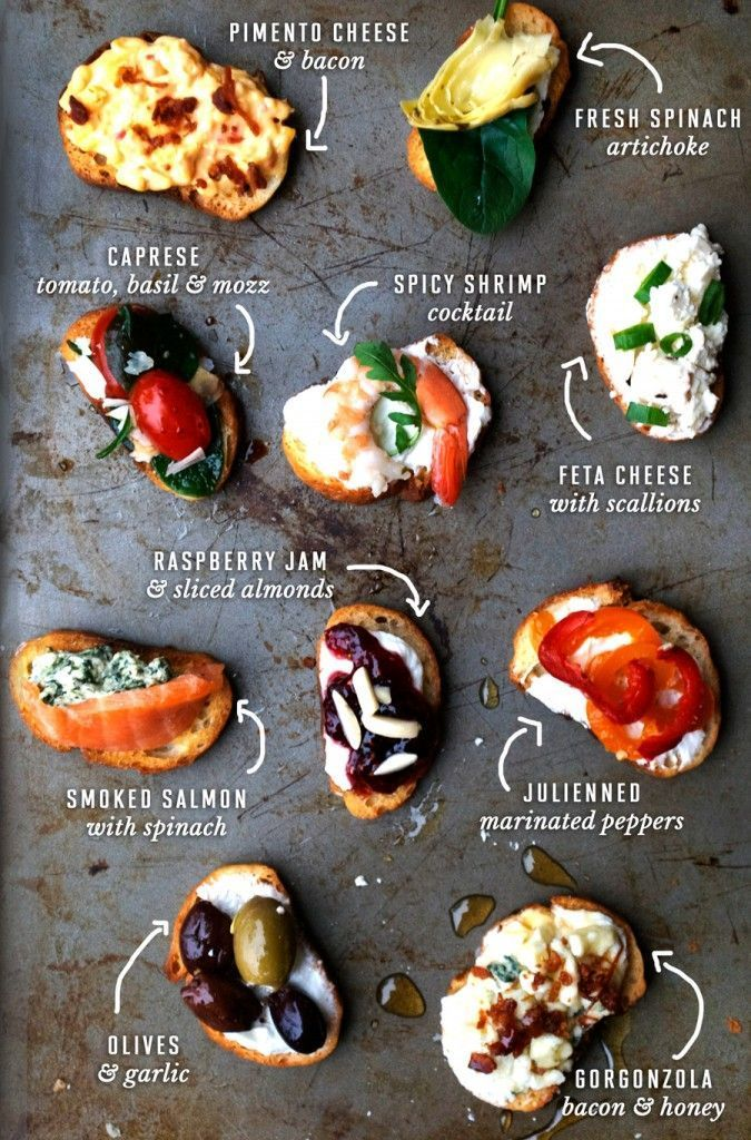 Two Bite Crostini Party Ideas w/ recipes below