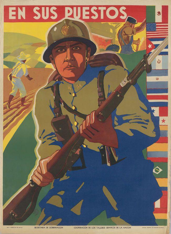 Los carteles futuristas que el gobierno de México promovió en la Segunda Guerra Mundial (FOTOS) - Más de México