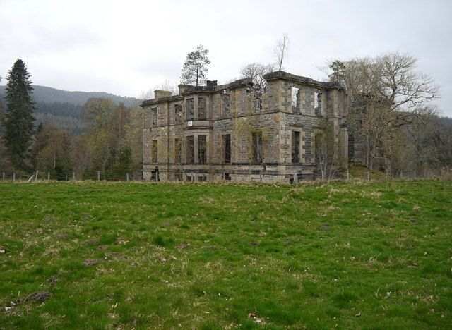 Ruins of Guisachan House by Craig Wallace, via Geograph