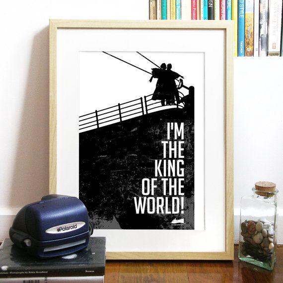 Film Titanic inspiré impression de Poster citation amour Kate et le Leo art inspirantes tirage poster typographie affiche impression typographie film Titanic