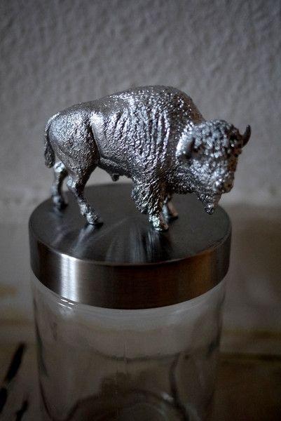 Vorratsdosen - Vorratsdose/ -glas Büffel - ein Designerstück von Niefee bei DaWanda