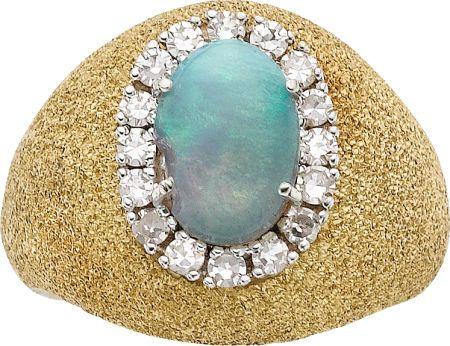 Estate Jewelry:Rings, OPAL, DIAMOND, GOLD RING. ... #opalsaustralia